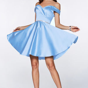 Off Shoulder Homecoming Short Dress